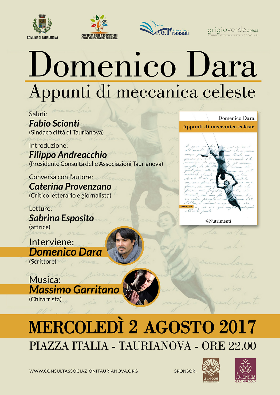Evento Domenico DARA 2 agosto 2017